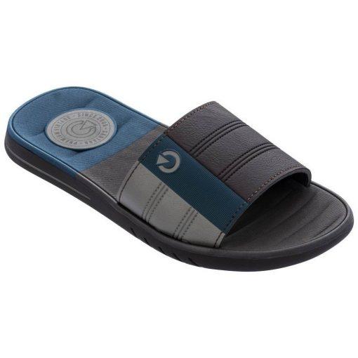 Cartago Sevilha IV Slide férfi papucs - kék/barna