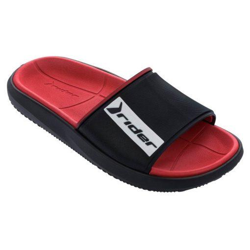 Rider Block Slide férfi papucs - fekete/piros