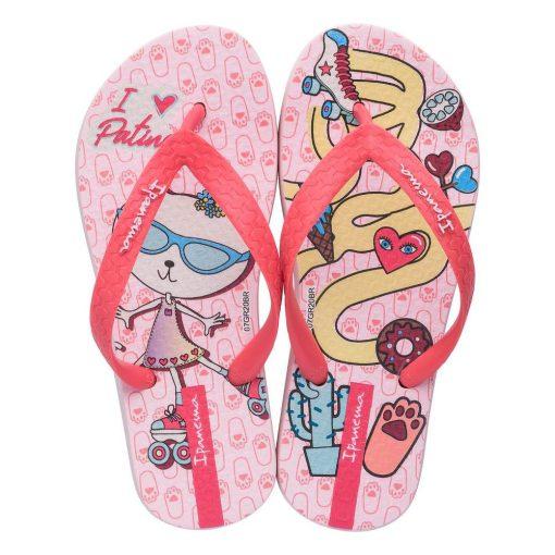 Ipanema Temas gyerek papucs - pink/piros