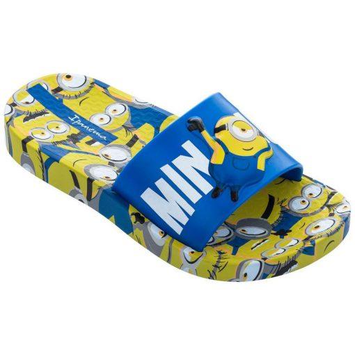 Ipanema Minions Slide Kids gyerek papucs - kék/sárga