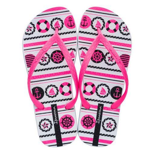 Ipanema Class Happy IX női papucs - fehér/pink/fekete