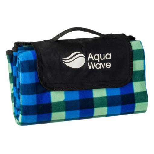 Aquawave piknik takaró (130x150 cm) - kék/zöld kockás