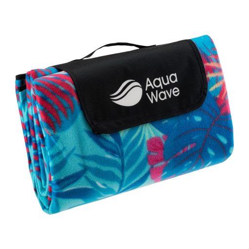 Aquawave piknik takaró (200x200 cm) - kék mintás